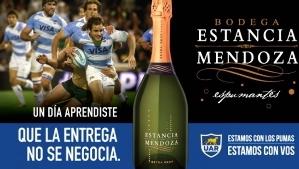 Una de las promociones de Estancia Mendoza junto a Los Pumas
