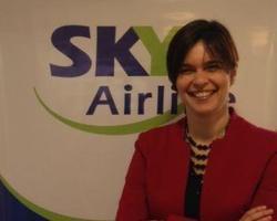 La gerente general de SKY Airline Argentina, Andrea Jans.