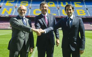 Los responsables del proyecto se reunieron en el Camp Nou
