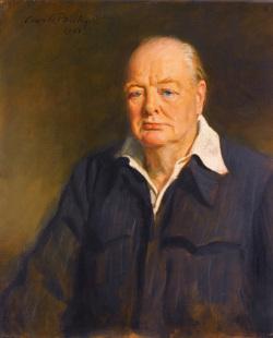 Retrato de Sir Churchill