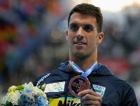Federico Grabich muestra orgulloso su bronce.