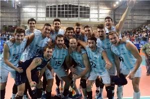 El festejo de la Selección tras las dos victorias ante Canadá. Se va a Bulgaria por otra más.