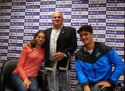 Báez, Valladares y Fernández en la presentación del equipo nacional.