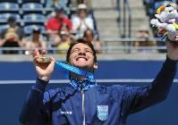 Facundo Bagnis, líder de un equipo de tenis que logró tres medallas.