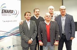 Los responsables del informe: Conte (SDN), Siffredi y Jacubovich (Enard), Valladares (Copar) y Moccia (COA).