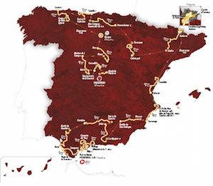 """Ruta de """"la Vuelta 2015"""""""