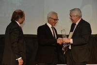 Costantini junto a Damián Tabakman y Juan Carlos Franceschini