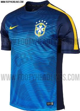 La nueva camiseta de Brasil