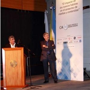 En el Auditorio Juan Pablo II de la Universidad Católica Argentina.