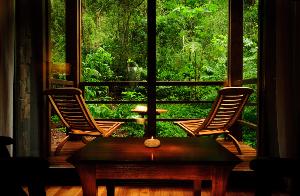 Se sitúa frente al vigor de la selva misionera y la tierra colorada.