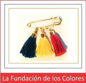 Los colores primarios forman el pin de la Fundación de los Colores.