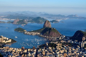 Las postales de Río deleitan a los visitantes.