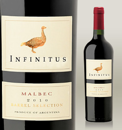Se destaca em Infinitus Barrel Selection Malbec