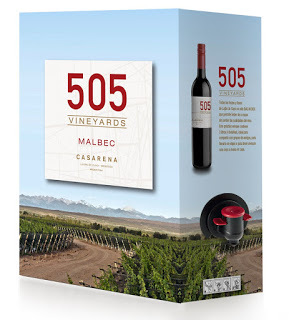 Nuevo packaging 505 Vineyards Bag In Box Malbec 2014.