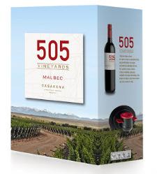 Nuevo packaging 505 Vineyards.