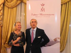 La alegría de Hervè Joyaux Fabre y de su esposa Diane.