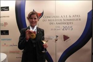Paz Levinson obtuvo el primer puesto en el Concurso ASI & APAS Mejor Sommelier de las Américas.