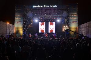 """Se realiza en el marco del """"Movistar Free Music 2015""""."""