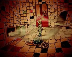 Las obras de Alicia Maffei poseen algo de juego, de sueños, de personajes, de fantasía.