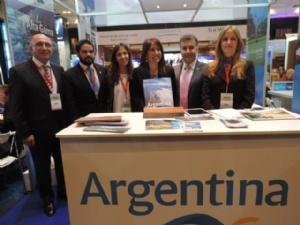 La delegación argentina pudo presentar su oferta de destinos.