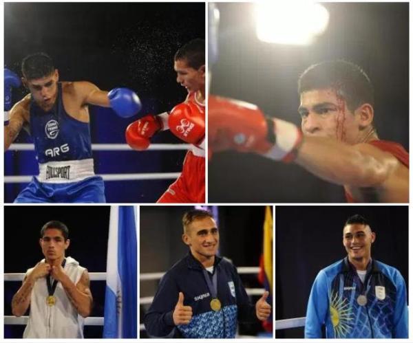 Los cinco boxeadores que representarán a la Argentina.