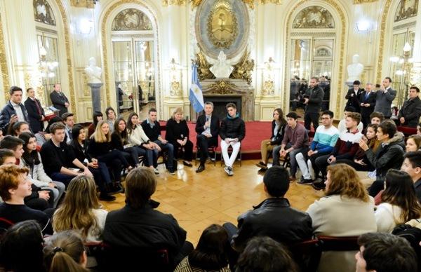 AFS junto al presidente Macri