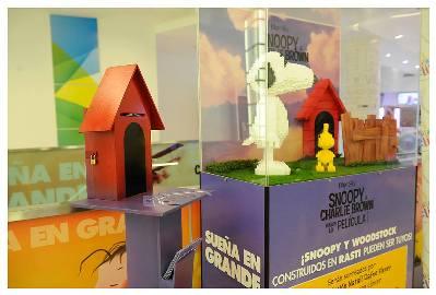 Snoopy y Woodstock hechos en Rasti