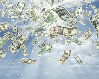 La lluvia de dólares