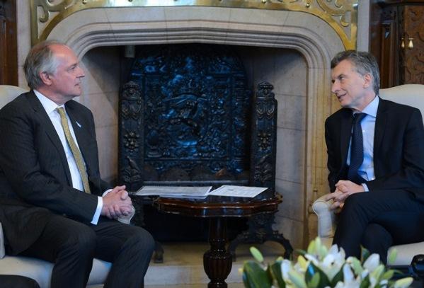 Paul Polman junto al presidente Mauricio Macri
