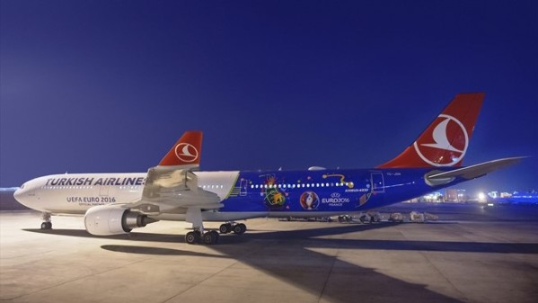 El avión de la EURO de Turkish Airlines
