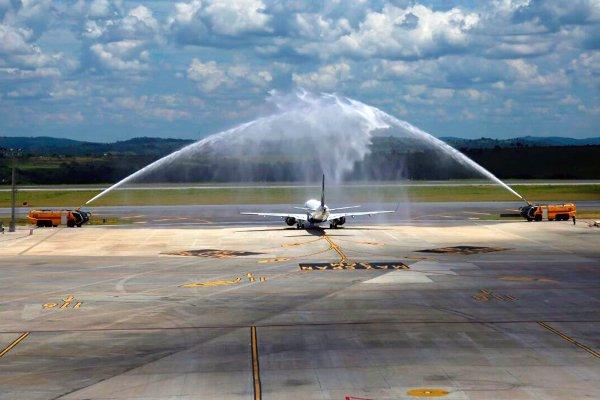 La empresa aterrizó por primera vez en Argentina este lunes