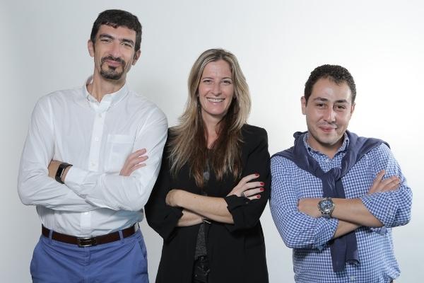 Salvador Calogero, María Paula Stock y Andrés Reyes, directivos de 4Finance