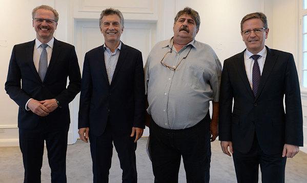 Volker Mornhinweg se reunió con Mauricio Macri