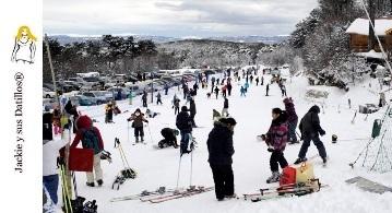 Jackie se fue a esquiar