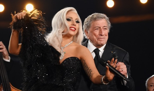 Lady Gaga con Tony Bennett. Crédito: Larry Busacca/Getty Images