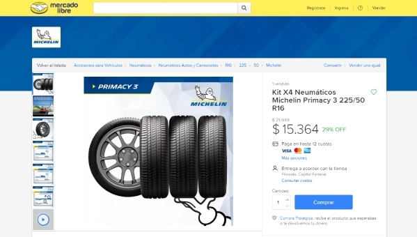 Michelin en Mercado Libre