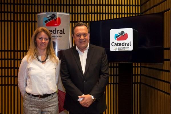Helgamaría Salvatelli y Gustavo Santos