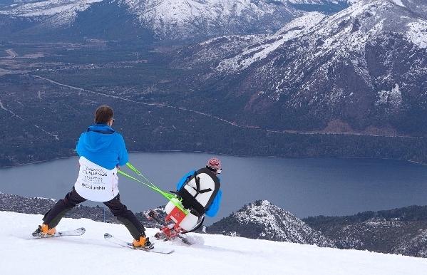 Silla para esquí adaptado