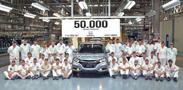 Honda cantó las 50.000