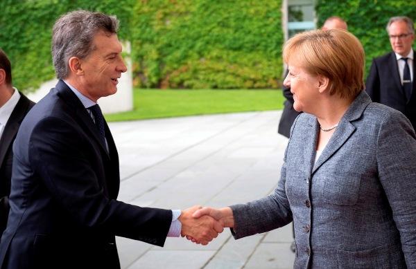 Ángela Merkel y Mauricio Macri (Casa Rosada)