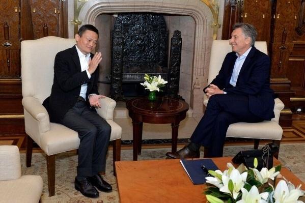 Mauricio Macri y Jack Ma