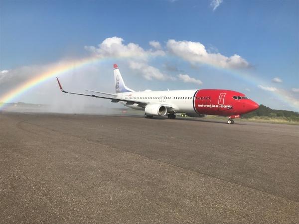 Aterrizó Norwegian
