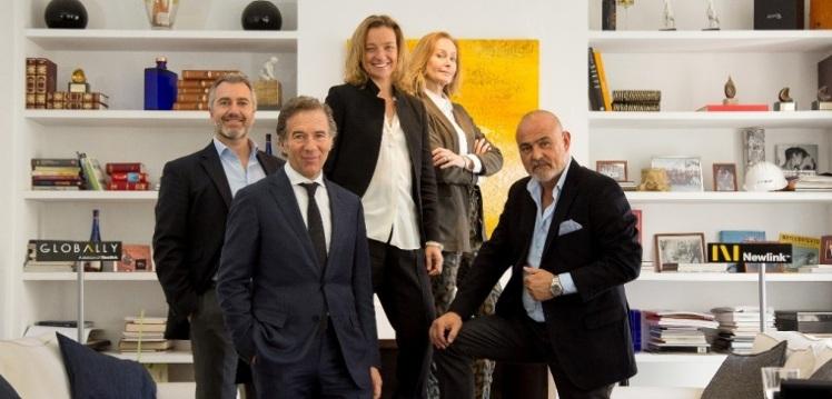 Sergio Roitberg, CEO de Newlink, con el equipo de socios de Globally