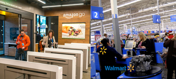 Amazon go vs. Walmart