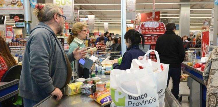 En supermercados de toda la provincia