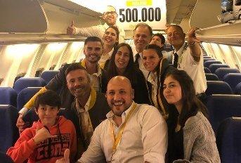 500.000 pasajeros transportados