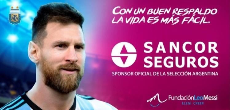 Messi junto a Sancor Seguros