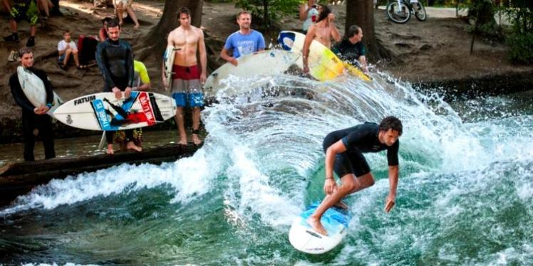 Los surfistas de Munich